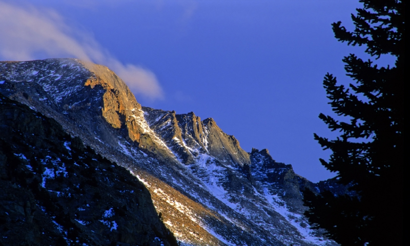 Sunset on Longs Peak