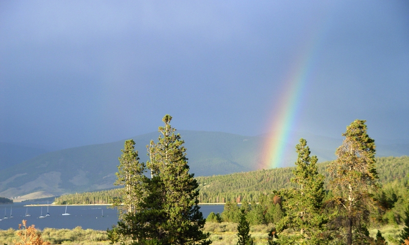 Rainbow over Lake Dillon