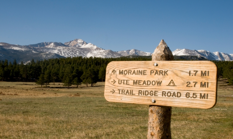 Hiking to Moraine Park